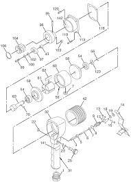chicago pneumatic cp864 air sander repair parts
