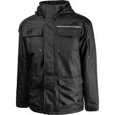 terra men s medium black bolt lined high quality supreme winter hooded jacket