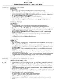Example Engineer Resumes Qa Engineer Resume Samples Velvet Jobs