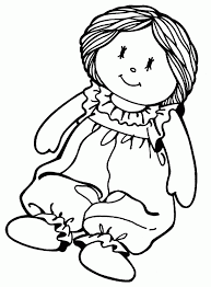 Doll Coloring Pages Rag Toy Free Printable Page 2 Ayushseminarmaha