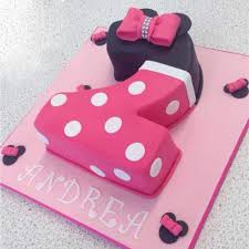 Number 1 Birthday Cake Designs Minnie Mouse Number 2 Cake