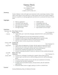 Makeup Artist Objective Make Up Artists Resume Makeup Artist Resume In Template Home