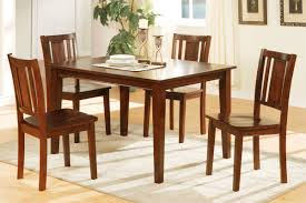 set of 4 dining chairs. Nice Dining Table Set For 4 9 Brighton Square Capra Mahogany Finish 01 1G9A1122 M Jpg 1477559967 Of Chairs