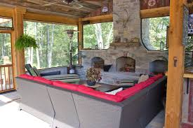 screened porch fireplace outdoor fireplace green guys chesterfield mo