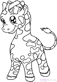 Giraffe Colouring Pages To Print Baby Giraffe Coloring Pages Giraffe