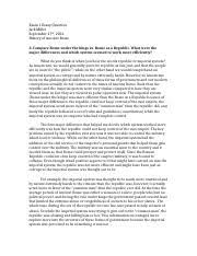 aclc history of ancient rome suny albany page  2 pages exam 1 essay question