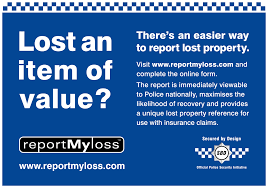 My Report Lost Property West Yorkshire Police