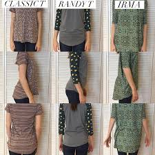 Classic Lularoe Size Chart Comparing The Classic T Randy T And Irma Tunic For Length