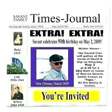 The Times Newspaper Template Party Invitations Newspaper Template Digital Superhero