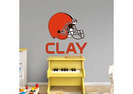 cleveland browns stacked personalized name fathead wall decal on cleveland browns wall art with cleveland browns stacked personalized name wall decal shop fathead