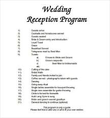 wedding reception program templates free download wedding reception program template free olivias wedding ideas
