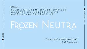 frozen font free download font frozen neutra free download typeface