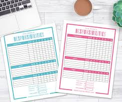 Editable Chore Chart For Adults The Best Way To Make A Chore Chart In 2019 Free Printable