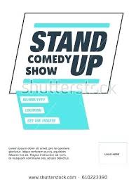 Show Ticket Template Dance Ticket Template Stand Up Comedy Show Poster Concept Venue Date