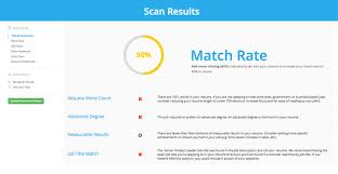 Jobscan then compares them against your resume and scores how well you match  based on hard, soft, education, and job title match: