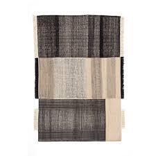 tres flat weave dhurrie rug black