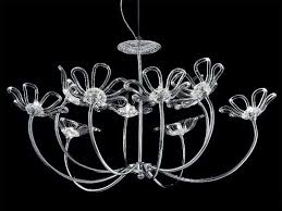 daisy chandelier chandelier with chromed metal frame glass diffusers