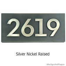 house number plaques modern raised house numbers house number plaque address plaque silver nickel house number house number plaques