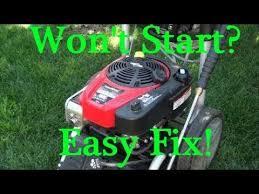Newer POWERSTROKE Pressure Washer won't START after STORAGE. BRIGGS ...