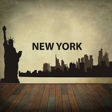 new york city skyline silhouette the big apple wall stickers vinyl wall art decal home decoration