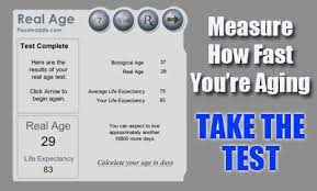 Real Age Life Expectancy Calculator Mental Age Test