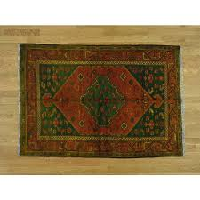 4 6 x6 5 overdyed persian hamadan pure wool hand knotted