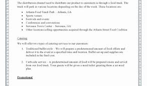 Retail Business Plan Outline Food Truck Business Plan Template Lovely Free Retail Business Plan