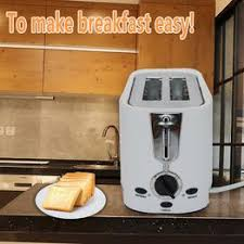 Large Capacity <b>Toaster 2</b> Piece Automatic <b>Toaster Home Breakfast</b> ...