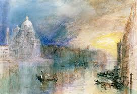 joseph mallord william turner painting venice grand c with santa maria della salute by joseph