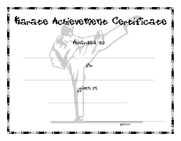martial arts certificate template collection of solutions karate certificate template also martial art