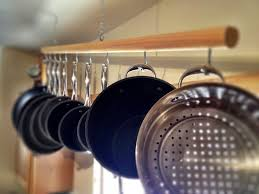 wallpaper pot rack hanger