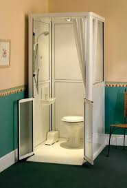 front entry shower cubicles