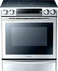 samsung glass top stove glass top stove cu ft slide in electric range with flex glass