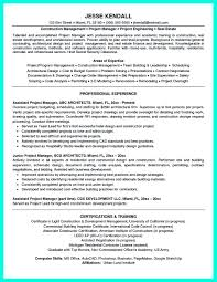 Sample Resume Construction Project Manager Simple Cv Format For Job Filename Residential Construction