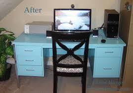 blue metal desk after