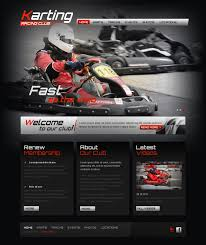 website template 42720 karting club training custom website