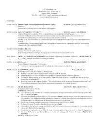 Mba Application Resume Examples