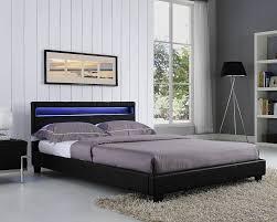 Led Bedroom Furniture Modern Led Lighting White Leather Bed Modern Led Lighting White