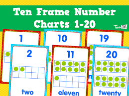 ten frame number charts 1 20