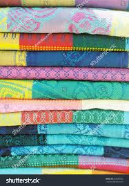 Patterned Blankets Unique Stack Colorful Patterned Blankets Stock Photo Royalty Free