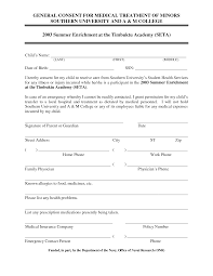 Consent To Treat Forms Best Photos Of General Consent Form Template Medical Treatment 11