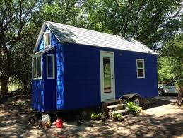 Small Picture Tiny Blue House on Wheels For Sale in Hesston Kansas