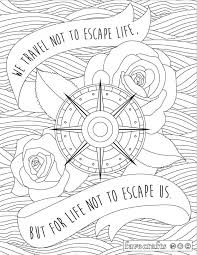 Small Picture Travel Escape Adult Coloring Page Adult coloring Coloring books