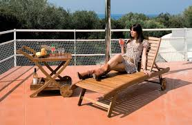 Lettini per spiagge : Sdraio da giardino in legno lounger arredo giardino e mobili da