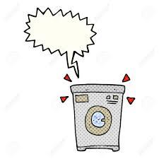 freehand drawn ic book sch bubble cartoon washing machine stock vector 53480113