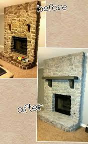 whitewashed my stone fireplace and sanded and painted my mantle