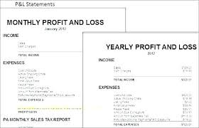 daily profit and loss daily profit and loss template annual yearly statement
