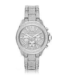 accessories watches dillards com michael kors wren stainless steel pavé chronograph watch