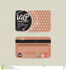 Front And Back Vip Member Card Template Stock Vector Illustration