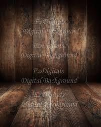 Dark Wood floor and wood wall digital background backdrop digital